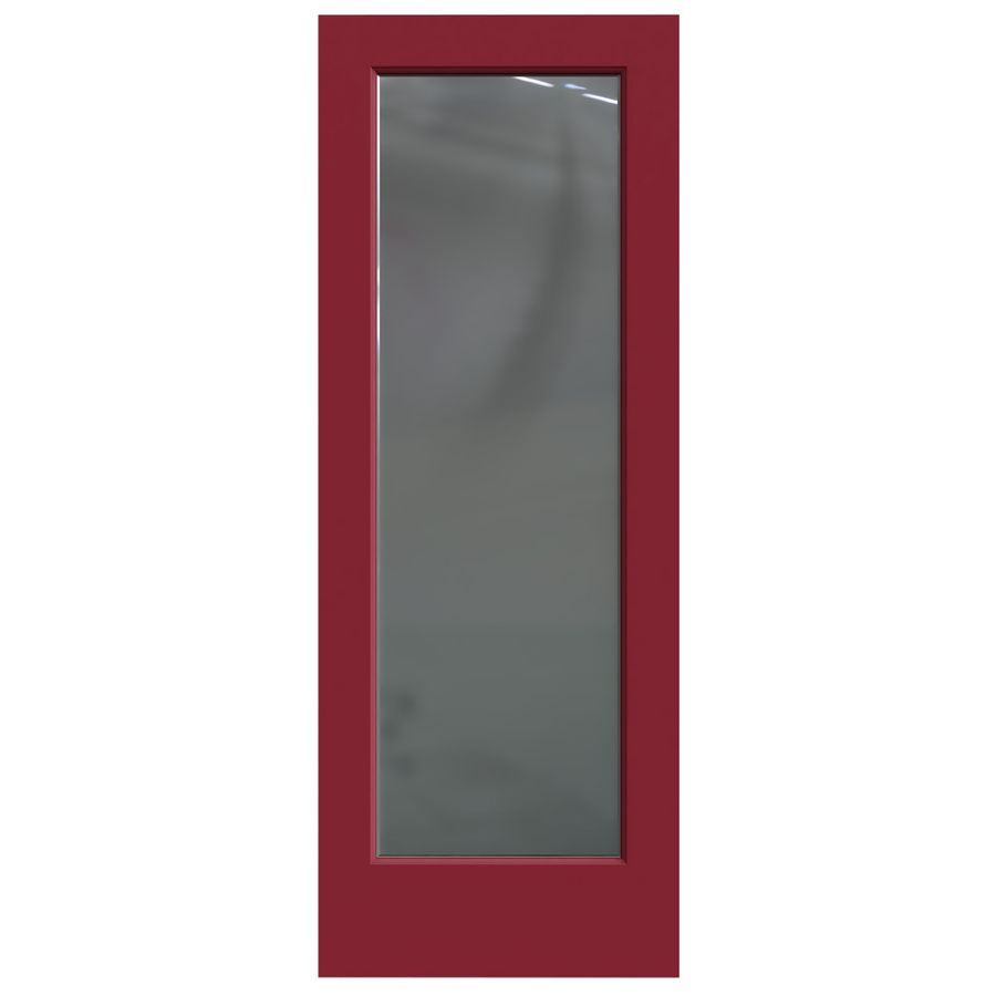 Jeld Wen Barn Red Hollow Core 1 Panel Square Mirror Slab Interior Door Common 30 In X 80 In Actual 30 In X 80 In Slab Door Glass Mirror Square Mirror