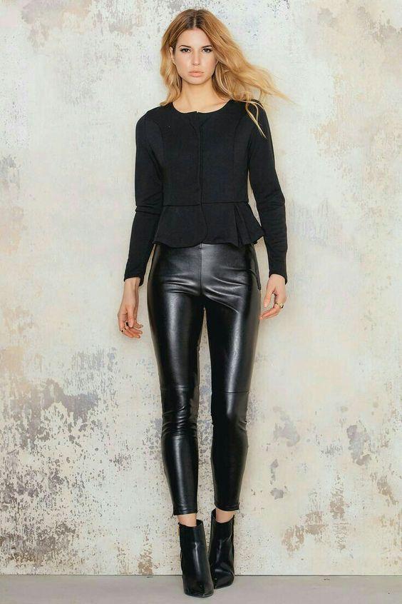 stunning outfits mit schwarzer leggins 8
