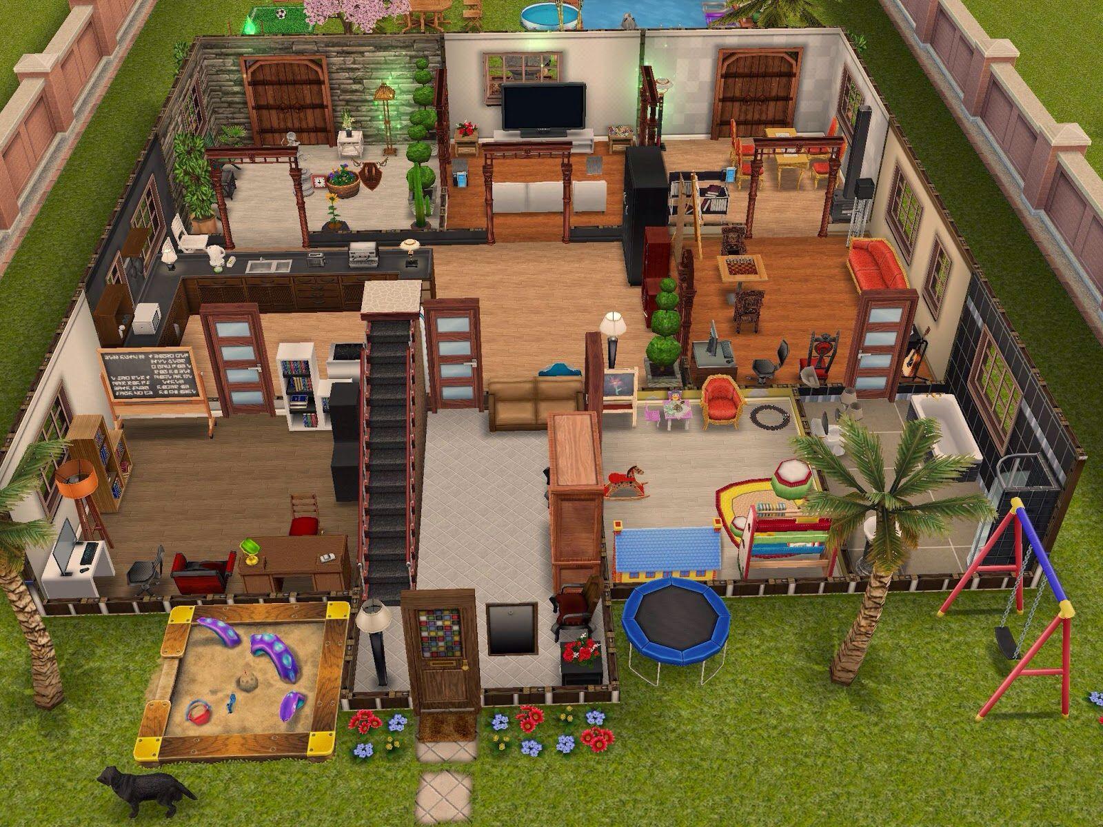 Resultado de imagen de casas sims 4 planos sims 4 for Casa de diseno the sims freeplay
