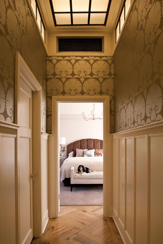 Love This Arts Crafts Wallpaper Maybe One Day I Ll Have A House Like