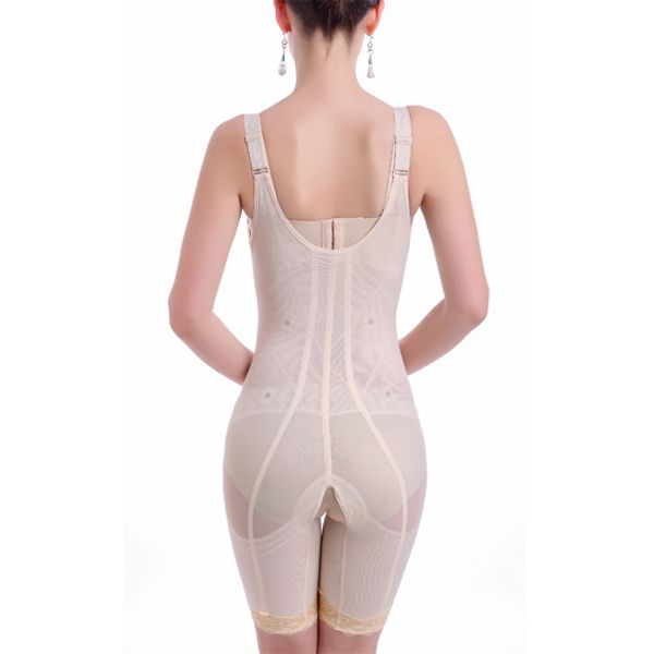 a83b33ca32b34 Women Front Closure Magnetic Therapy Waist Trainer Slim Hips Up Bodysuit  Shapewear  woohooshop
