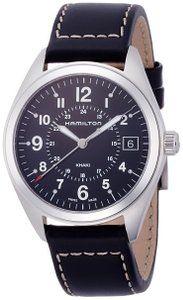 34cb67c438e Hamilton Khaki Field Black Dial Black Leather Watch H68551733 ...