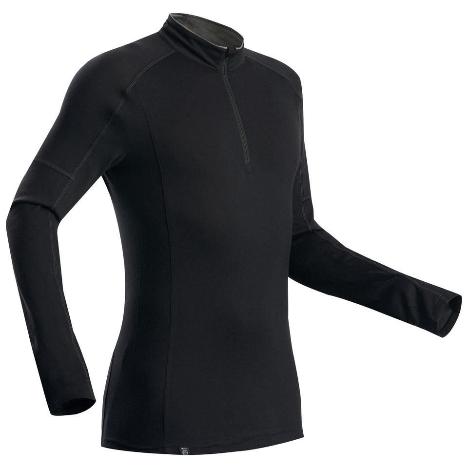 Forclaz Trek 500 Zip Long Sleeved Merino Hiking T Shirt Men S Hiking Tshirt Shirts Decathlon