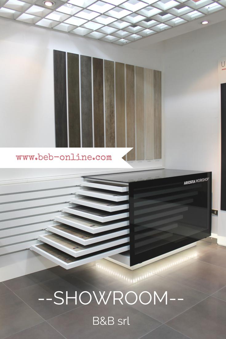 Area espositiva pavimenti presente nello show-room di Via Togliatti ...