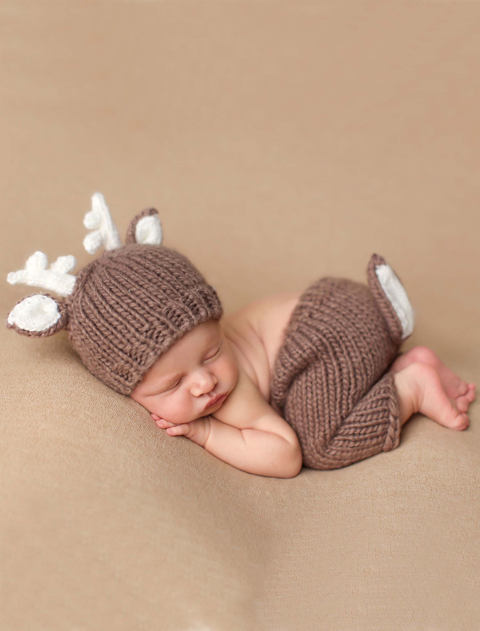 """7e4b9b2c121 This adorable """"Hartley"""" deer knit set is perfect for your newborn. These  are perfect for a shower gift or photo prop. The set includes the knit hat  and knit ..."""