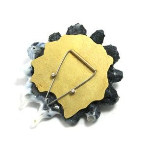 """FROSTED ROSETTE PIN 