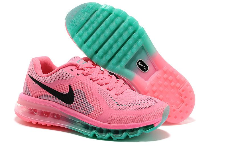Womens Nike Air Max 2014 Pink Black Blue Shoes #Lovely #pink