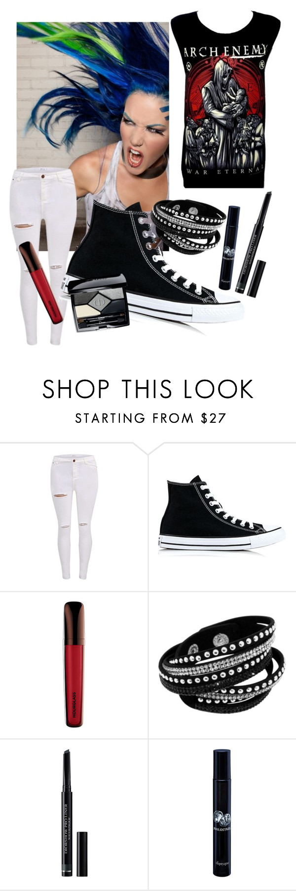 """""""arch enemy"""" by reincarnate-evilstuff ❤ liked on Polyvore featuring Converse, Christian Dior and Diptyque"""