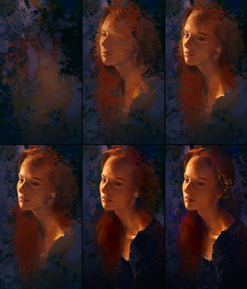 Evening Portrait Process by AaronGriffinArt.deviantart.com on @DeviantArt