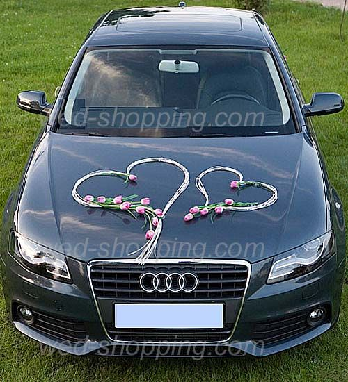 Wedding car decoration kit tulip and rattan hearts wedding car decoration kit tulip and rattan hearts junglespirit