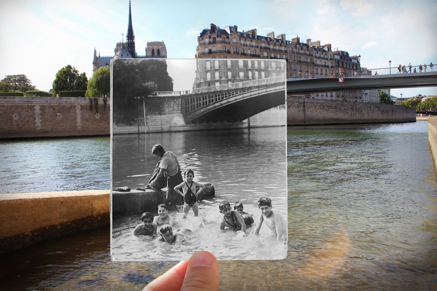 I Combined Outdated And New Pics Of Paris To Deliver Background To Daily life…