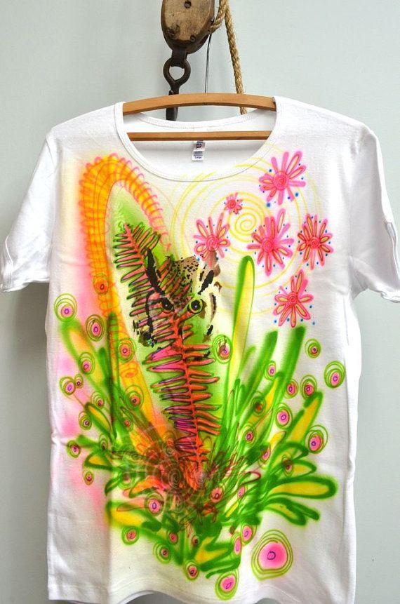 827e35c62 Some Flower Garden Airbrush T Shirt Womens Large 100 By Bnow, $1500