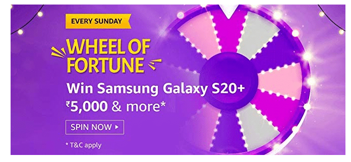 Amazon Wheel Of Fortune Quiz Answers & Win Samsung Galaxy