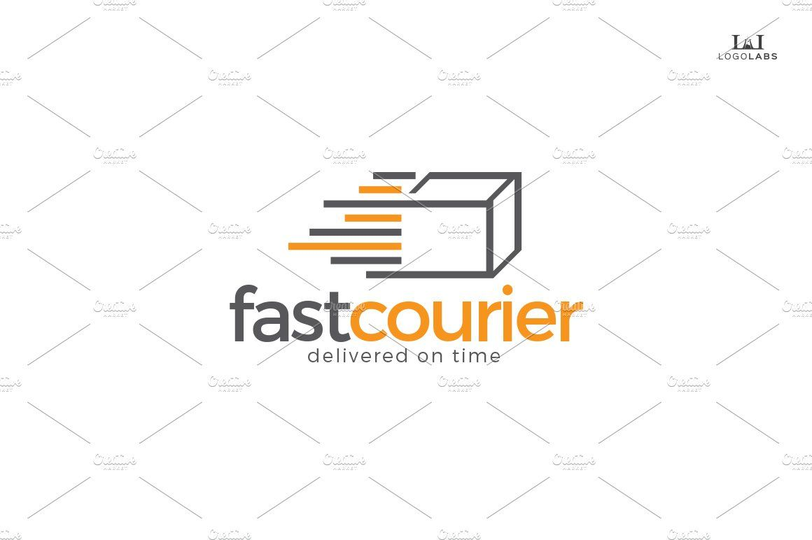 Fast Courier Logo Business Card Design Company Logo Design Card Design