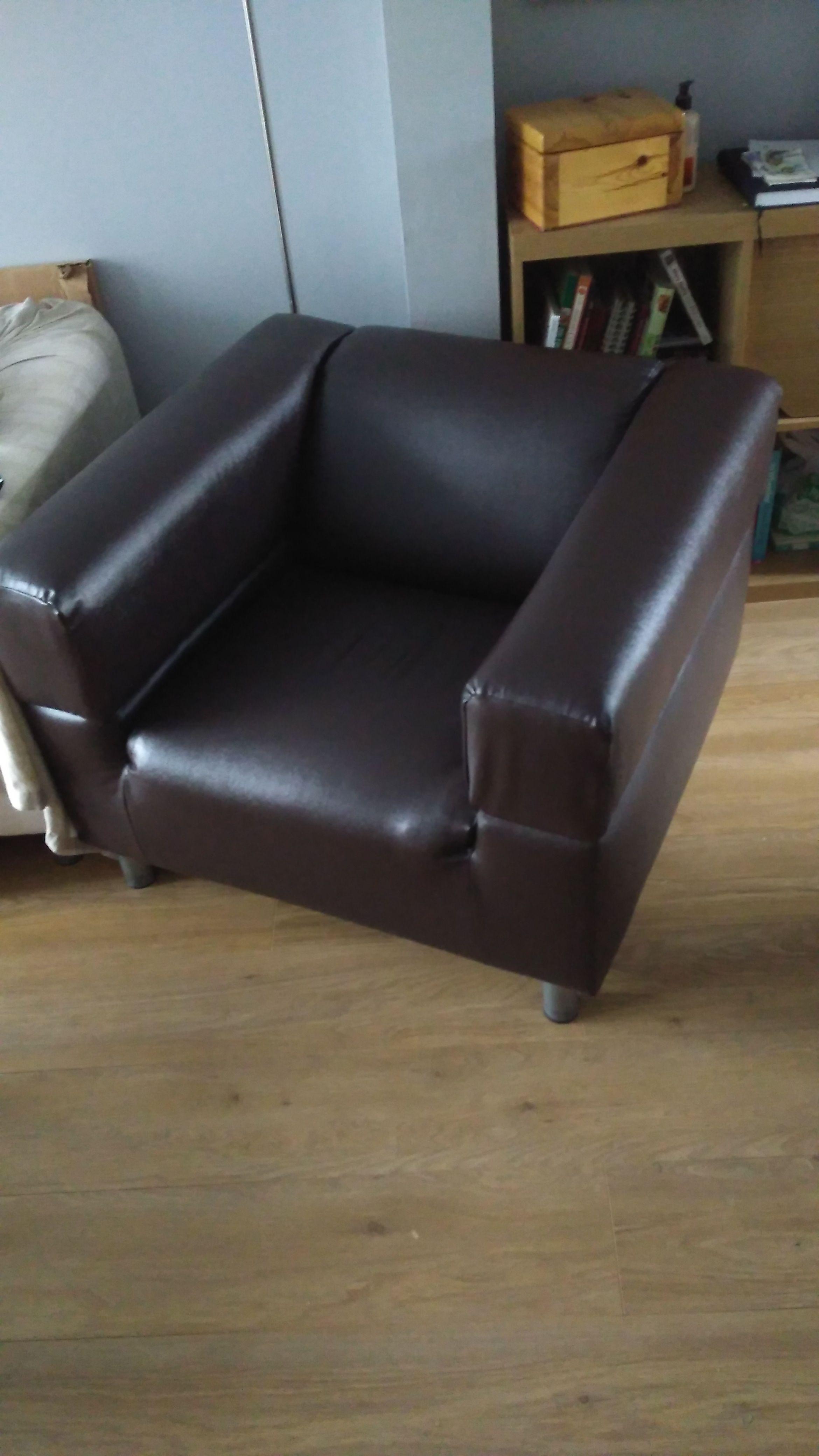 Ikea Klippan 2 Seater Sofa Hack made into an Armchair