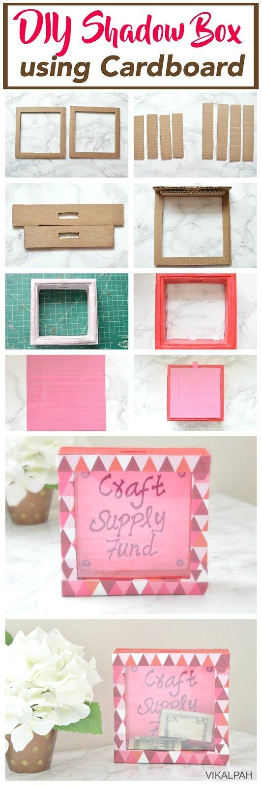 DIY Shadow box using cardboard | Vikalpah - A DIY/Crafts blog ...