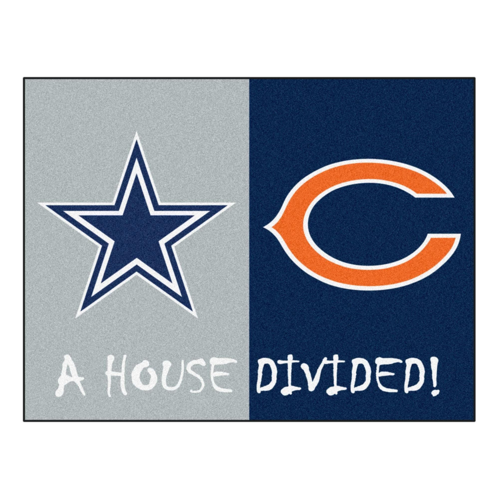 Dallas Cowboys Chicago Bears Nfl House Divided Rugs 33 75x42 5 Cowboys Bears House Divided Cowboys Vs