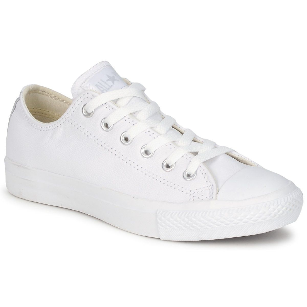 7a40cf7af830a Converse ALL STAR MONOCHROME CUIR OX Weiss