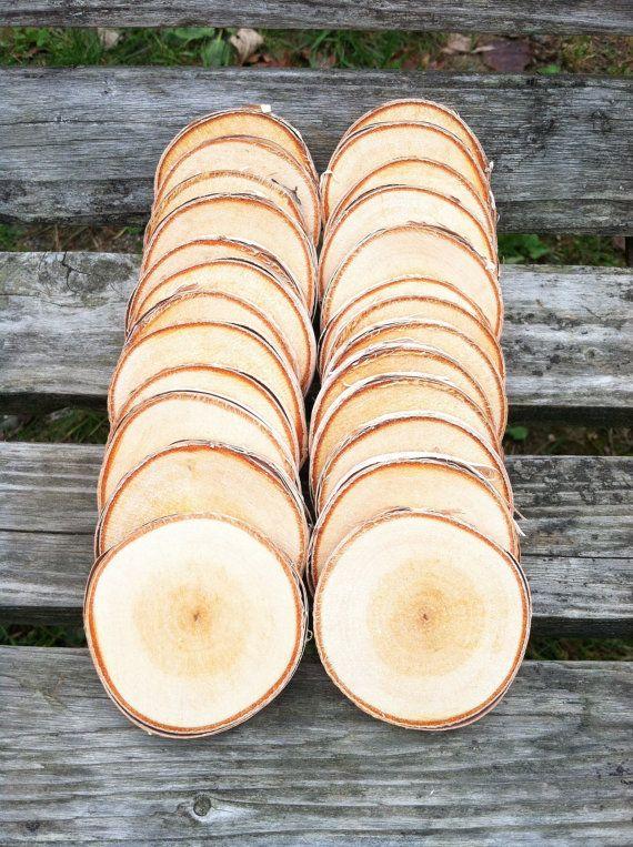 25 Birch Wood Slices 2 2 3 8 Wood Slices Wood Birch Wood
