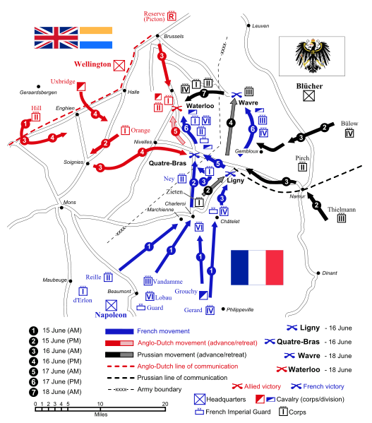 This Day in History: Jun 18, 1815: Napoleon defeated at Waterloo - http://dingeengoete.blogspot.com/2013/06/this-day-in-history-jun-18-1815.html