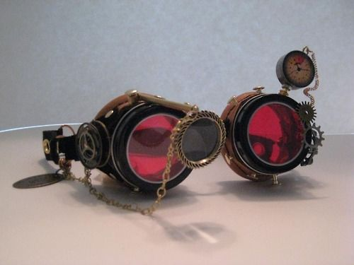 Gold Demented Steam Punk Victorian Goggles Cosplay Costume Accessory Unisex