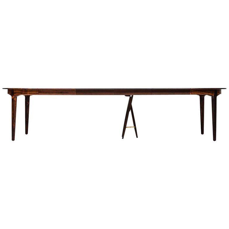 Henning Kjærnulf Dining Table Model 62 By Sorø Stolefabrik In Denmark For