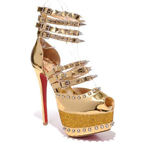 christian louboutin gold spiked heels christian louboutin sale