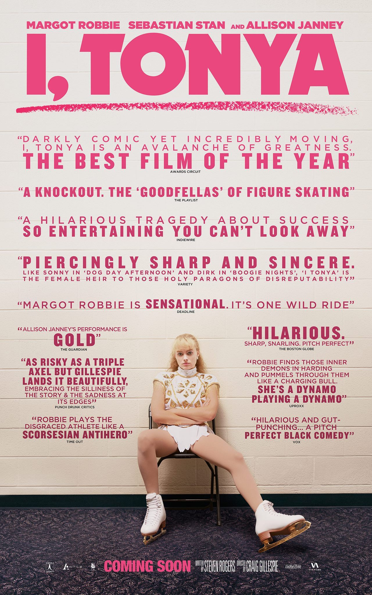 """The critics have spoken, """"I, TONYA is the best film of the year!"""" Don't miss this wickedly dark and funny film starring Margot Robbie as Tonya Harding. Opens Toronto exclusively on December 22, additional cities across Canada January 5th!"""