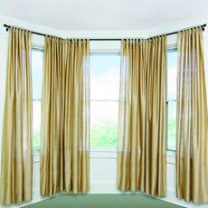Umbra Solutions Bayview Black Window Set Bay Window Curtains