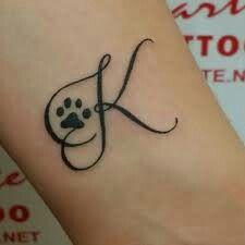Initial tattoo for a pet memorial  #tattoo #initials