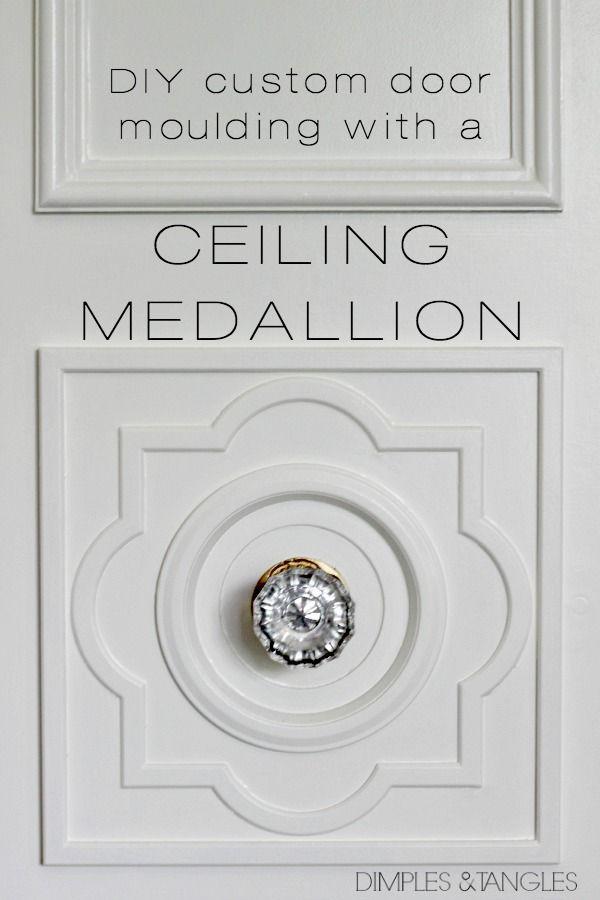 DIY CUSTOM DOOR MOULDING USING A CEILING MEDALLION