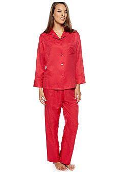 bf75101fc9 Miss Elaine Brushed Back Satin Jacquard Long Pajama  belk