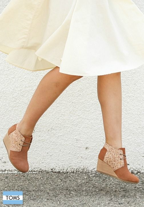 246e93fd9c2 This TOMS Desert Wedges are designed to be comfortable and stylish—whether  you re strolling around downtown or hanging out with friends.