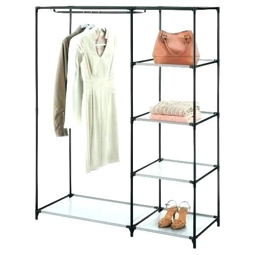 Garment Rack Target Wardrobe Free Portable Clothes Folding Collapsible