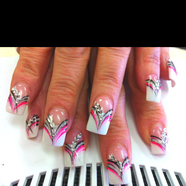 Did this feb1,2012 marble and line design | Expensive Nails ...