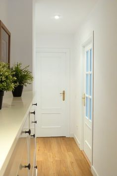 Paint the doors of your home with chalk paint