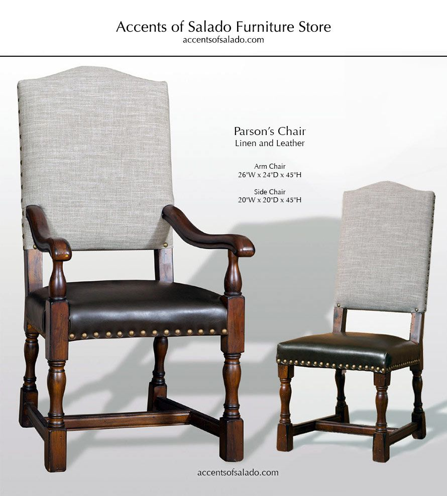 Dining Chairs Old World Parsons Collection Linen Leather For Interiors