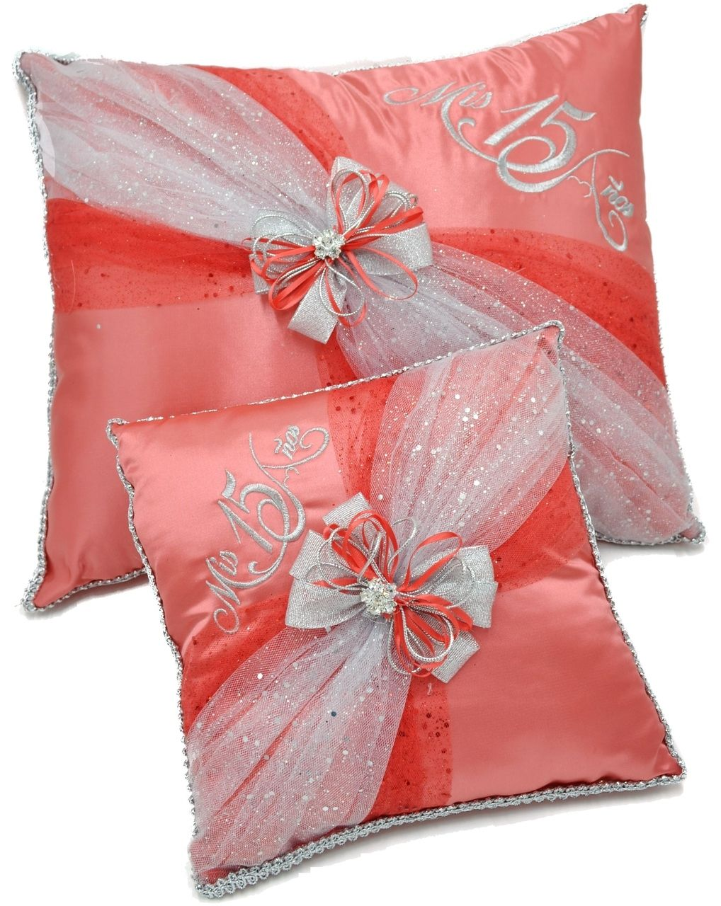Quinceanera Kneeling, Slipper and Tiara Pillows - Two Pillows ...