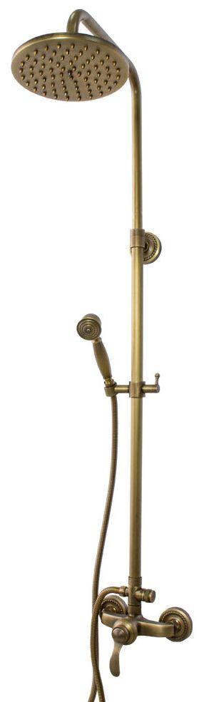 Retro Duschstangenset Duschset Kompleft mit Brause