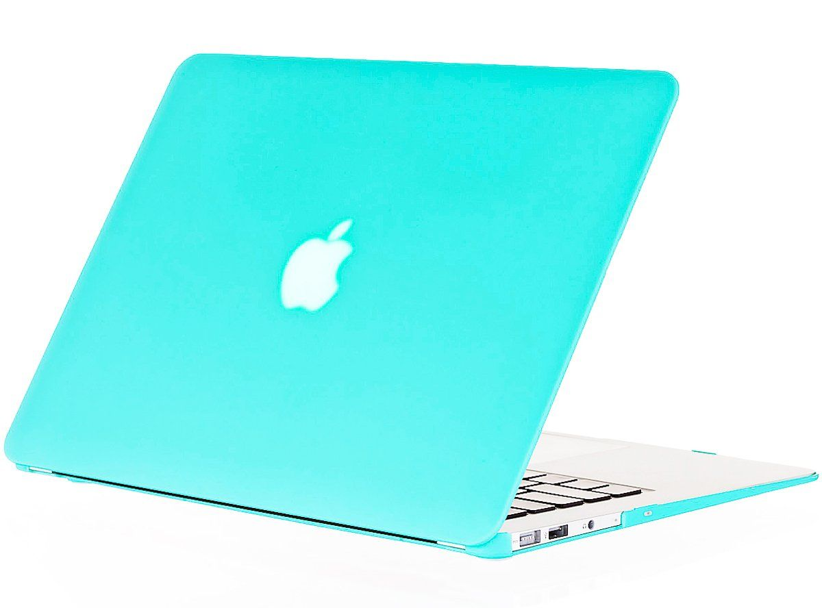 Amazon Com Kuzy Air 13 Inch Teal Turquoise Hot Blue Rubberized Hard Case Satin For New Apple Macbook Air Case Macbook Air Case 13 Inch Macbook Air 13 Inch