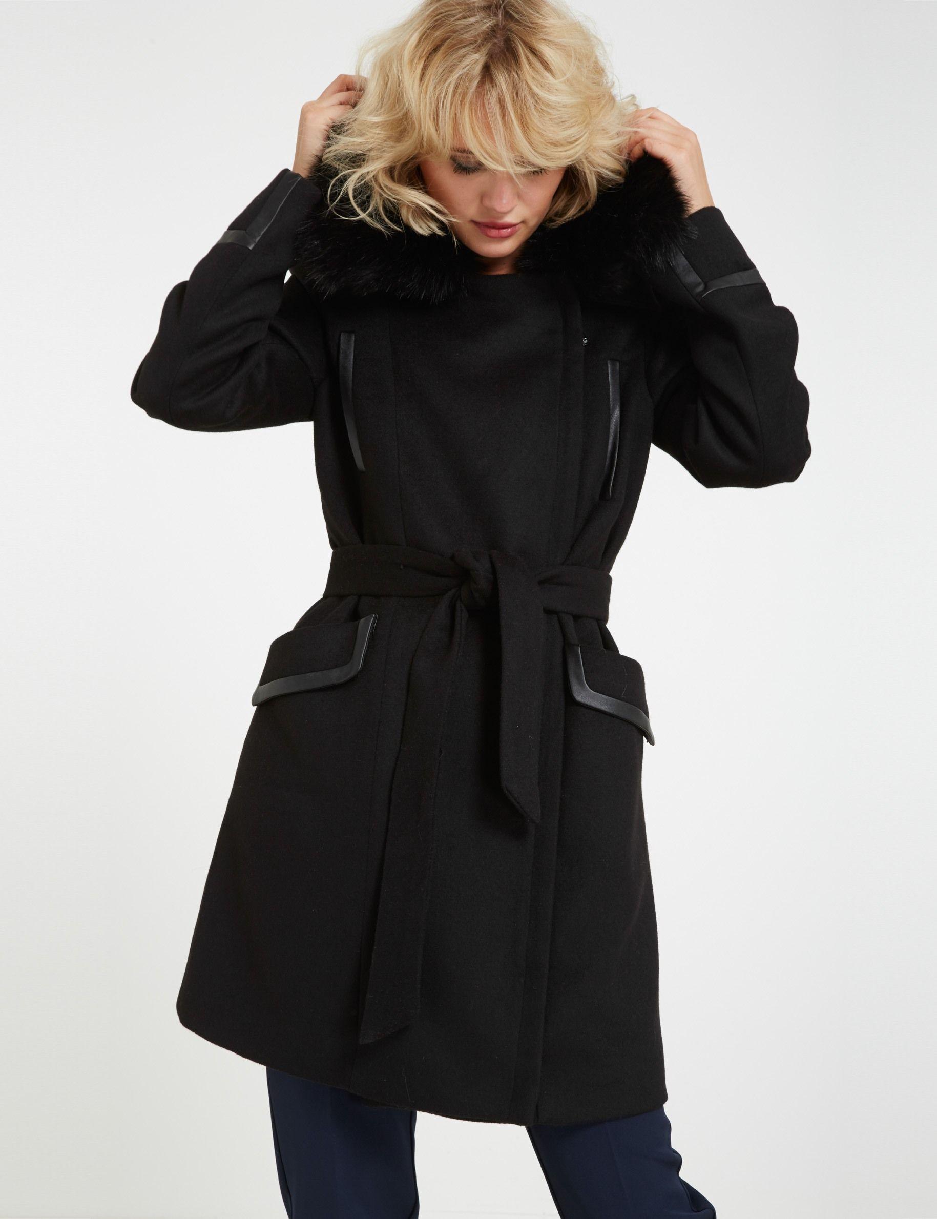 meilleur pas cher fcc4a 73dc2 Manteau mi-long en laine mélangée | MODE | Manteau, Laine et ...