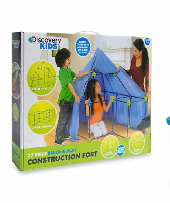 Discovery Kids 77 Pieces Build and Play Construction Fort Set Kids Tent #discoverkids  sc 1 st  Pinterest & Discovery Kids 77 Pieces Build and Play Construction Fort Set Kids ...