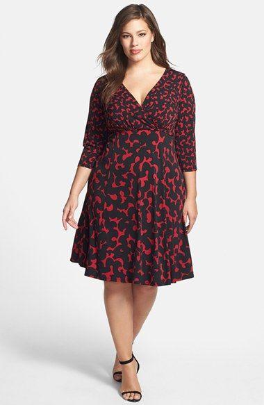London Times Print V Neck Fit Flare Dress Plus Size Available At Nordstrom Fit Flare Dress Plus Size Dresses Dresses