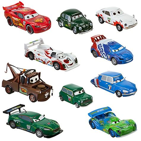 cars 2 world grand prix racer crew chief die cast car set featuring lightning mcqueen 10 pc. Black Bedroom Furniture Sets. Home Design Ideas