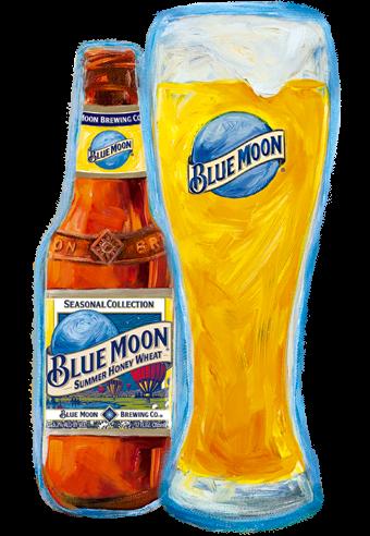 Blue Moon Summer Honey Wheat Cerveja Da Blue Moon Brewing Co Summer Honey Honey Wheat Home Brewing Beer