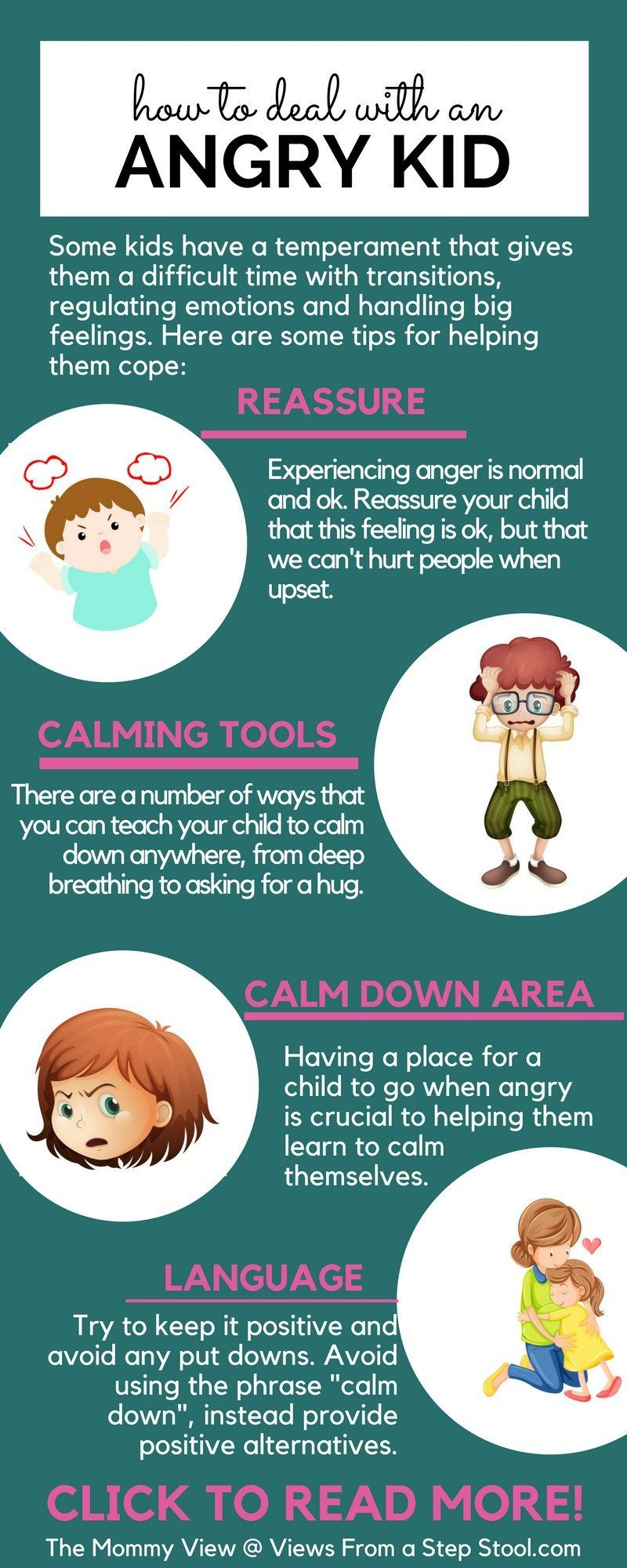 Ways to deal with an angry kid through reassurance and