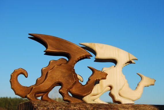 Regalo per uomini drago scultura statua lignea Dragon di bovagu