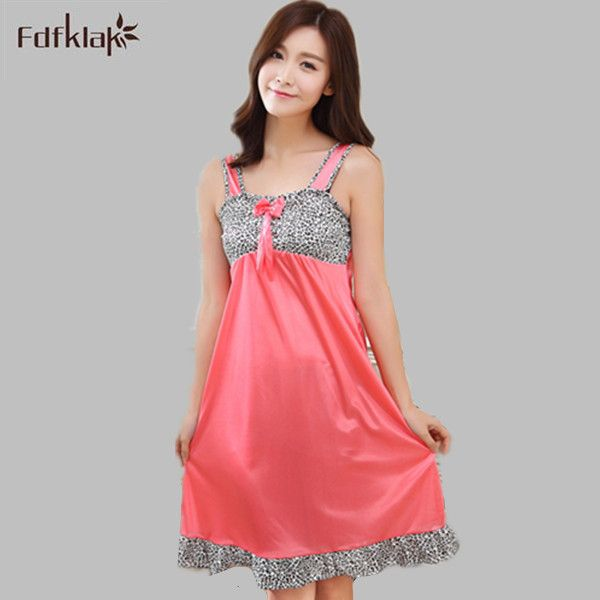 a3af407fcea Fdfklak Sexy Summer Nightgowns Female Home Clothes Women Night Gown  Sleepwear For Ladeis Loose Casual Sleep