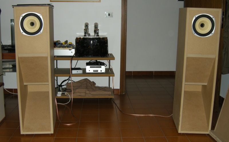 Lowther Full Range Speaker Loudspeaker On Mauhorn Xii Horn