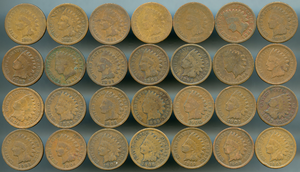 28 Piece Indian Cent Coin Lot Average Circulated See Details Coins Detail Coin Dealers